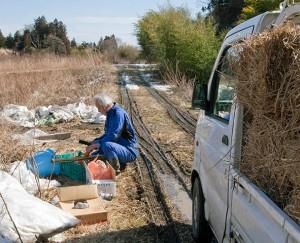 Matsumura Naoto dans sa ferme